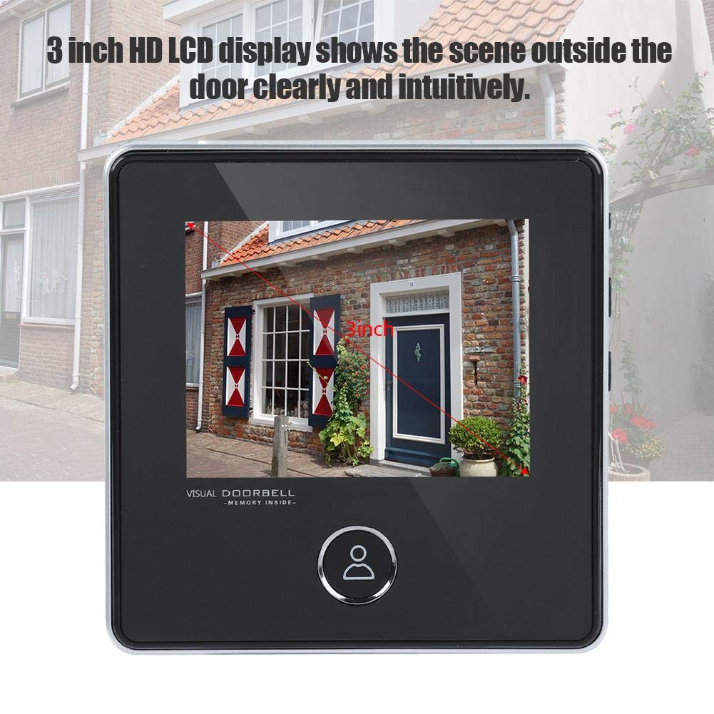 120 /° Weitwinkel IR Nachtsicht f/ür Home Office Hotel Door Viewer T/ürspion Video T/ürklingel Digital T/ürspion Viewer Smart Vision T/ürkamera Monitor mit 3MP
