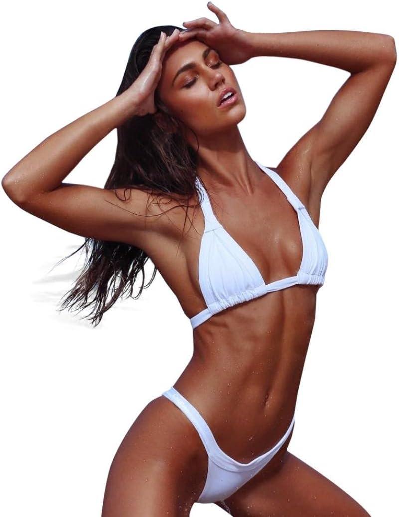 Yesmile Mode Maillots de Bain Femme,Les Femmes deux Pieces Maillots de Bain Top Volante Avec Haut Bas Taille Haute Bikini Set