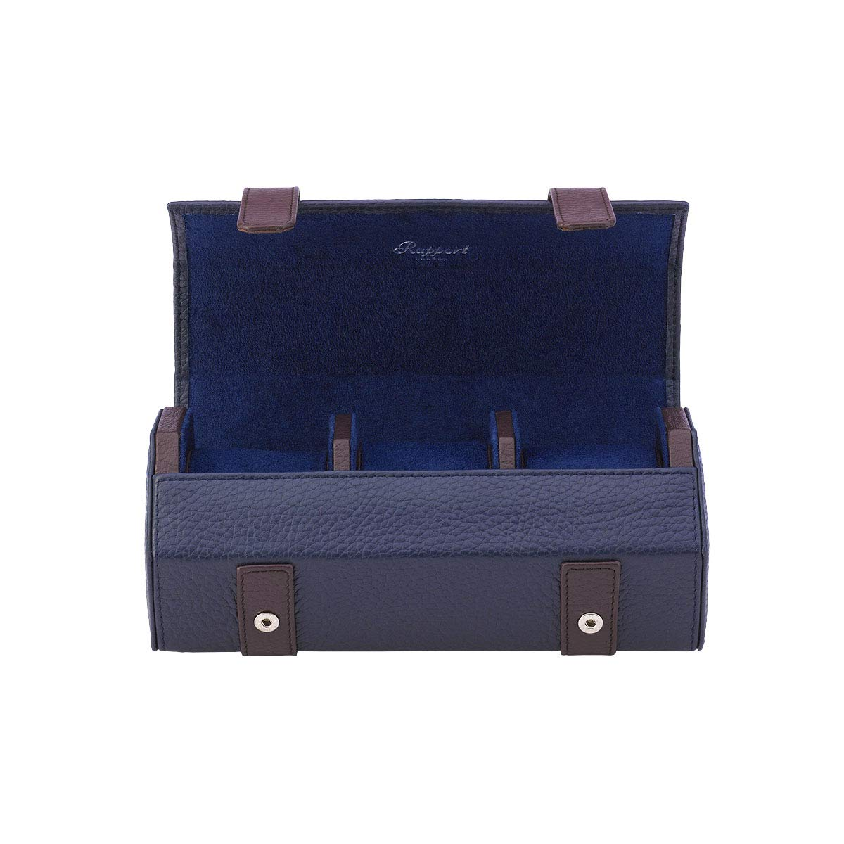 Rapport HydePark Hexagonal Three Watch Roll - Navy Blue