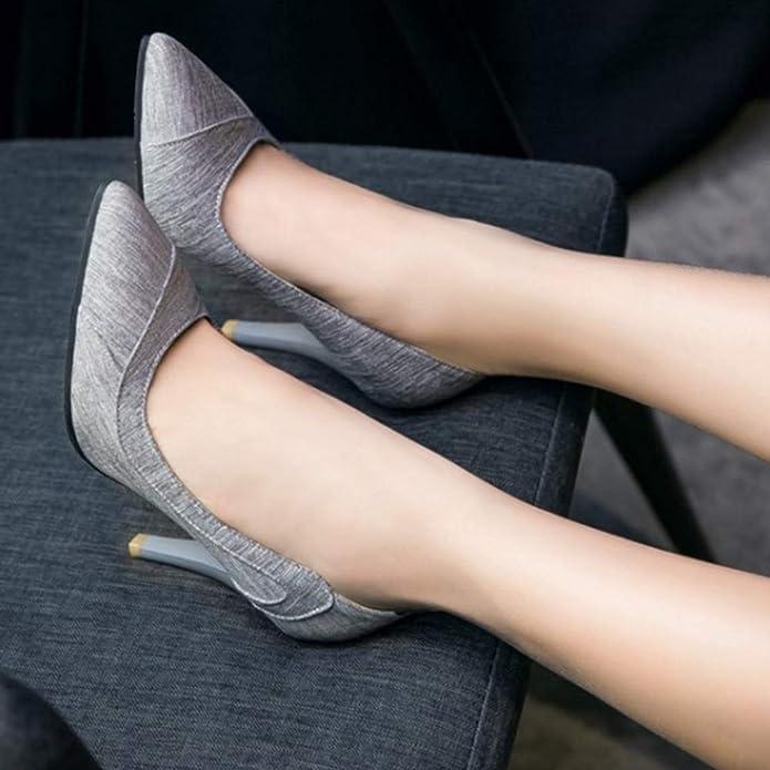 Smilice Escarpins /él/égants pour femme avec talon Stiletto