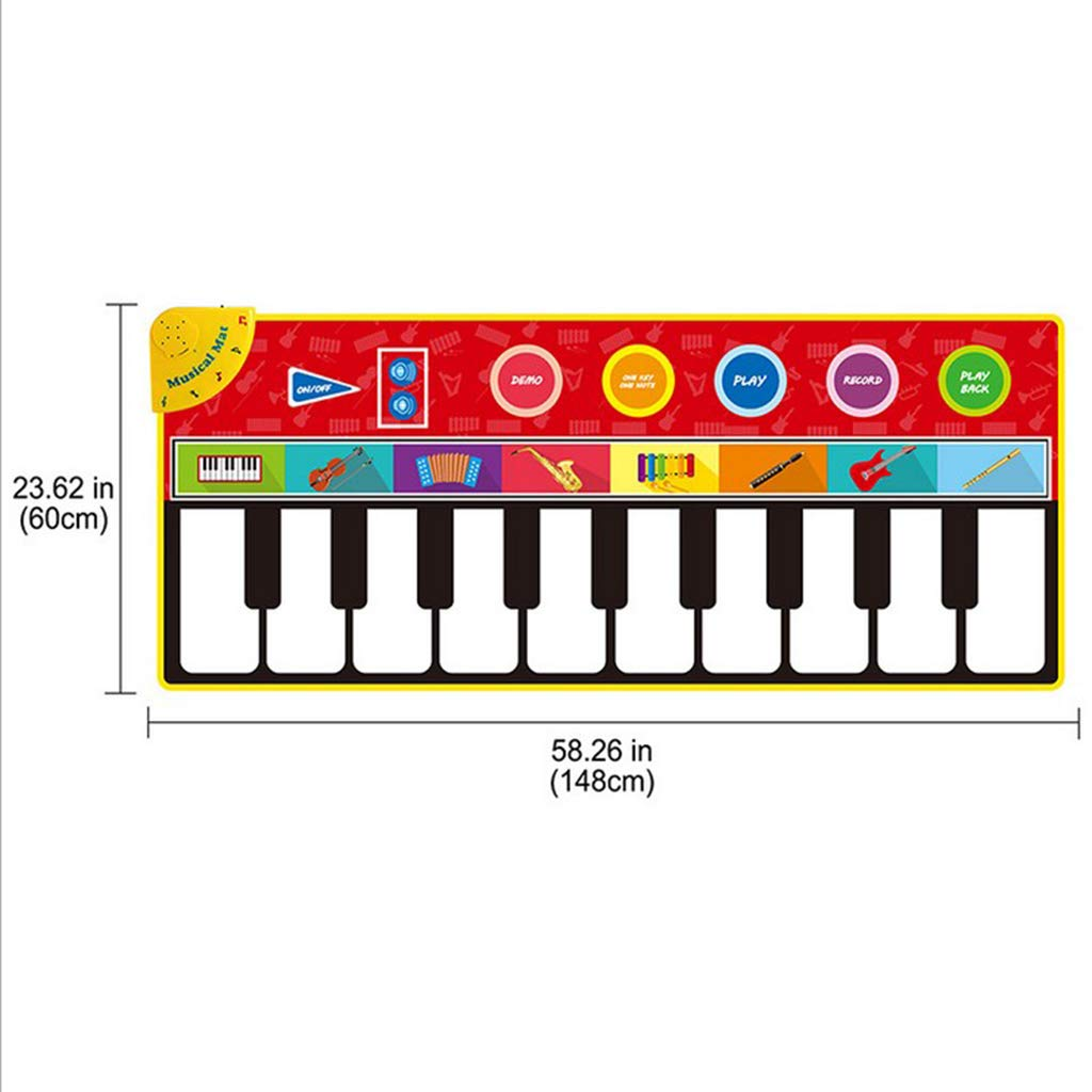 Toygogo Musical Music Piano Play Baby Mat Animal Educational Mat 148x60cm by Toygogo (Image #5)