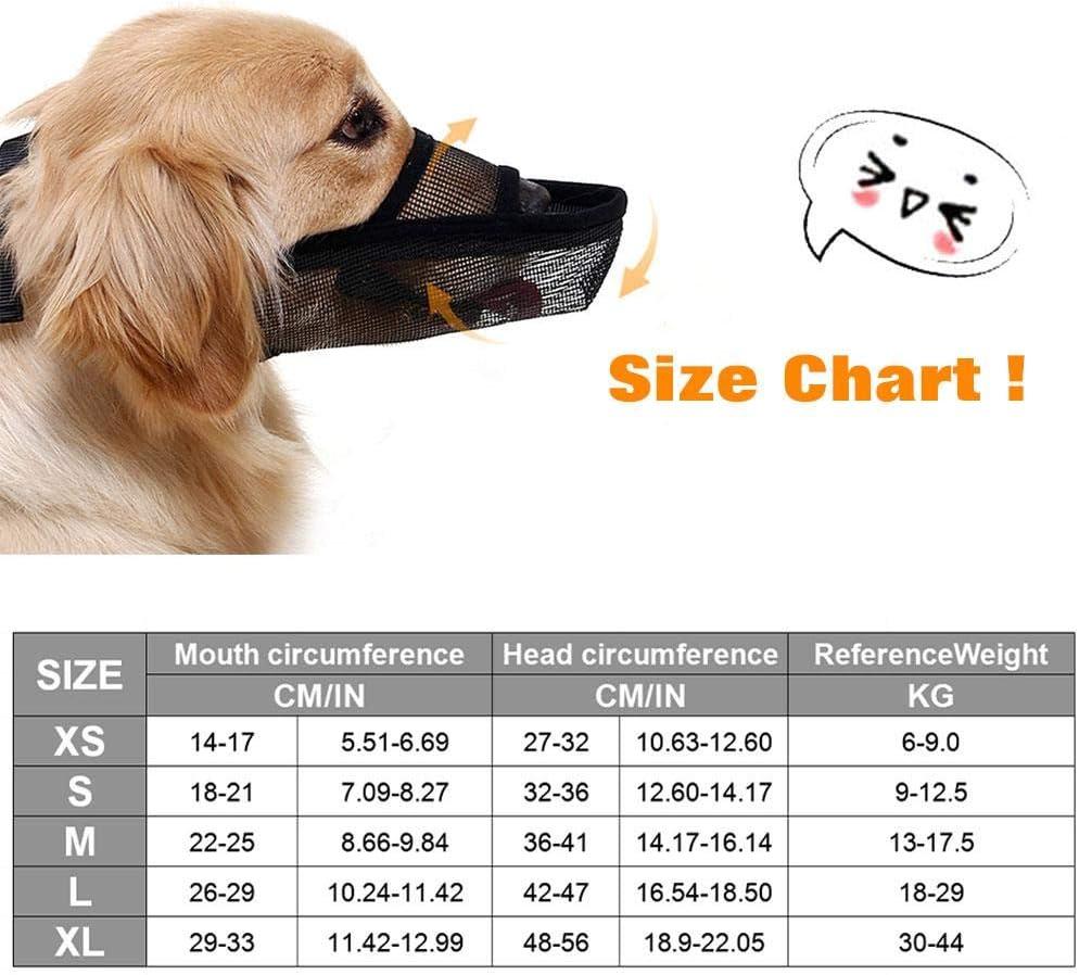 Seayahy Adjustable Dog Muzzle Small Medium Large Dogs Set Soft Breathable Mask Safety Dog Mouth Cover Anti Biting Barking Pet Muzzles Dogs