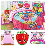 Shopkins Toys 6 Piece Bedding Comforter Set with Strawberry Kiss Pillow - Full