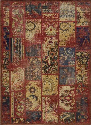 Raspberry Rug Rug - Momeni Rugs VINTAVIN-7RAS9AC6 Vintage Collection, 100% New Zealand Wool Power Loomed Flatweave Transitional Area Rug, 9'10