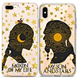 Lex Altern Couple iPhone Case Game Thrones Xs Max X Xr 10 8 Plus 7 6s 6 SE 5s 5 Moon My Life Sun Stars TPU Clear Her Girlfriend Phone Bae Cover Anniversary Matching Love Daenerys