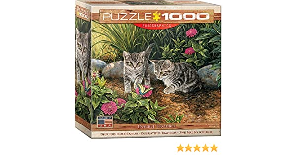 Amazon.com: EuroGraphics Double Trouble Kitten Puzzle (1000 Piece): Toys & Games