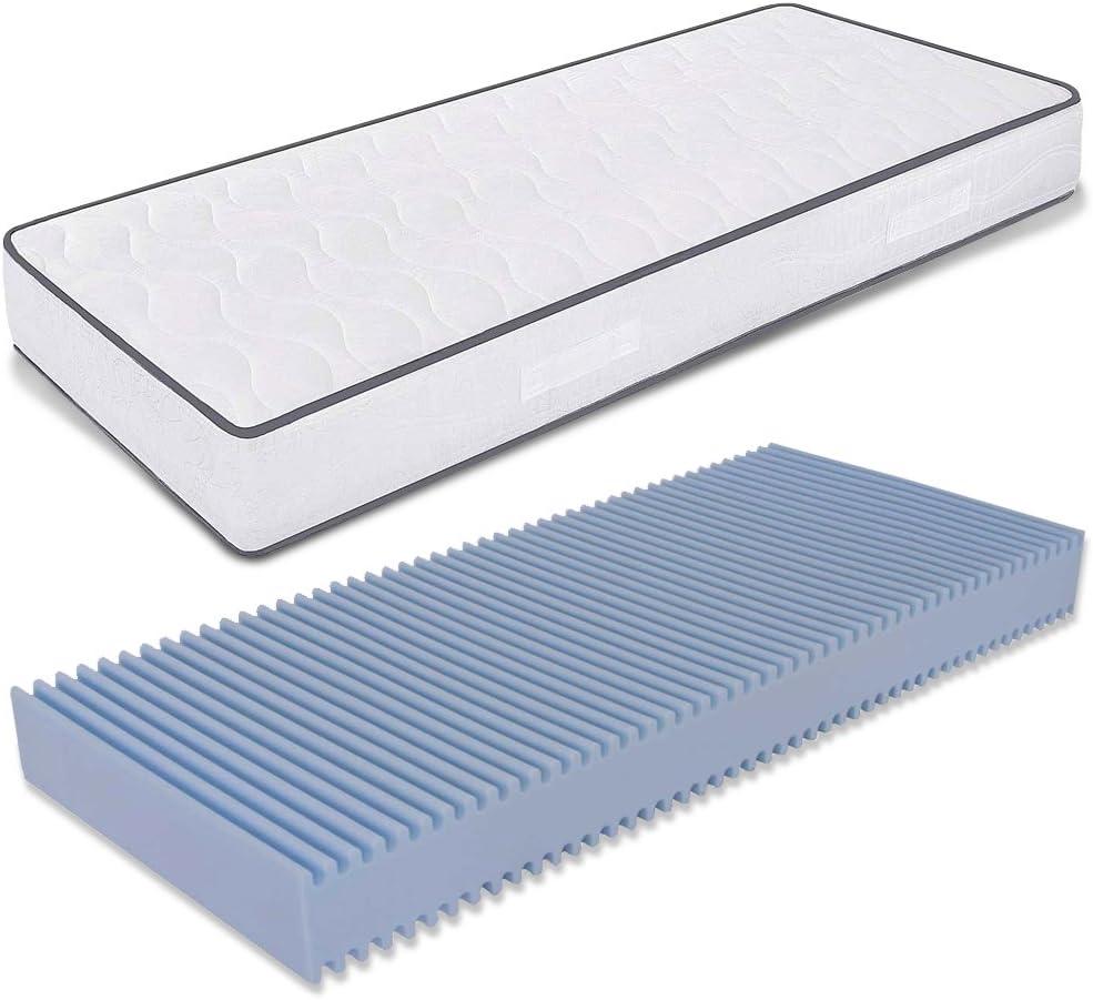 MiaSuite Matrasses, Color Blanco, 70 x 190 x 18 cm, con Dispositivo médico; colchón Individual de Gran tamaño; colchón de Water Foam; ortopédico - antialérgico - Certificado, Poliuretano