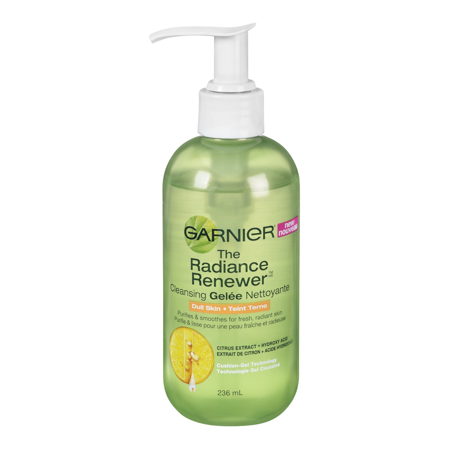 Garnier Radiance Renewer Cleansing Gelée for Dull Skin. Citrus Extract and Hydroxyl Acid, Oil Free, 236 ml 20JN01