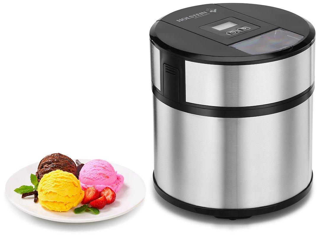 Holstein Housewares HH-090170001 Ice Cream Maker, Black/Stainless Steel