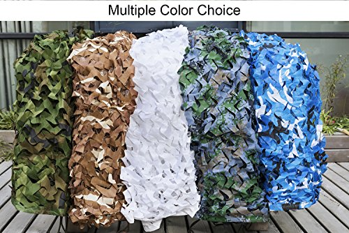 NINAT Camo Netting 10x10ft Digital Woodland Camouflage Net for Camping Military Hunting Shooting Multicolor Sunscreen Nets by NINAT (Image #5)