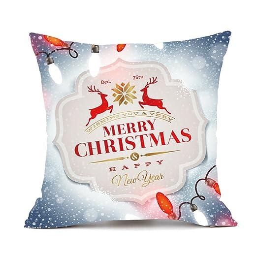 Mnyycxen - Funda de cojín Cuadrada para decoración navideña ...