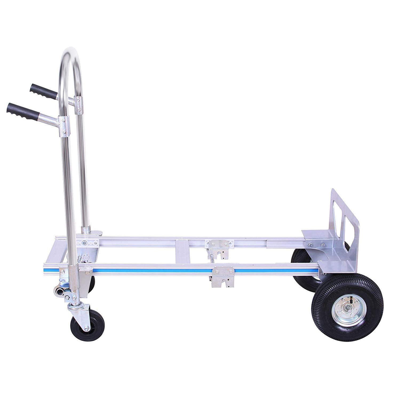 VEVOR 350Kg 2 In 1 Hand Truck//Sack Truck Multi-Functional Trolley Foldable Hard Truck Hand Sack Convert 2//4 Wheel