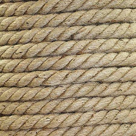 Strong All Natural Jute Fibers Garden /& Gardening Packing Twisted Jute Rope Home Decor Crafts /& Crafting Survival Thick Heavy Duty 3 Strand Jute Ropes Bailing 1//4 in x 25 ft SGT KNOTS