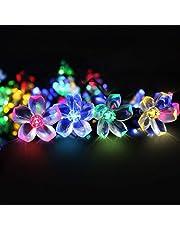 Catena Luminosa, Mr.Twinkelight 6.5M 50LED luce stringa solare di fiore Illuminazione per Giardino, Decorazioni di Natale, Feste, Matrimoni, Cortili, Pergole, Impermeabile IP65 (Multi-colore)