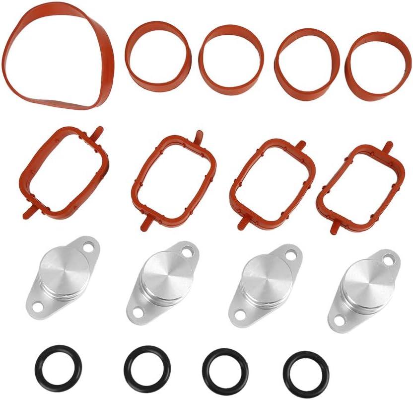 X AUTOHAUX 22mm Car Diesel Swirl Flap Blanks Intake Manifold Gaskets Repair Kit