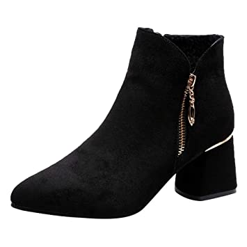 cb8a404f3d4c5 Amazon.com : Red Ta Clearance Women High Heel Shoes Suede Solid ...