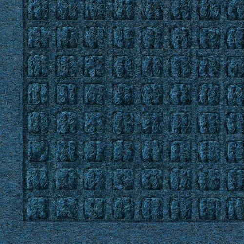 Andersen 280 WaterHog Fashion Polypropylene Fiber Entrance Indoor/Outdoor Floor Mat, SBR Rubber Backing, 8' Length x 4' Width, 3/8 Thick, Navy by The Andersen Company