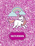Sketchbook: Cute Unicorn Kawaii Notebook with Pink