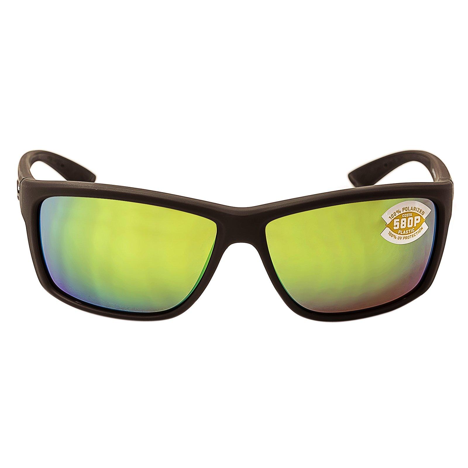 Costa Del Mar Mag Bay Sunglasses, Matte Gray, Green Mirror 580P Lens
