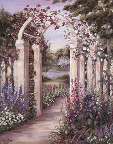 - Garden Escape II by Carol Saxe - 16x20 Inches - Art Print Poster