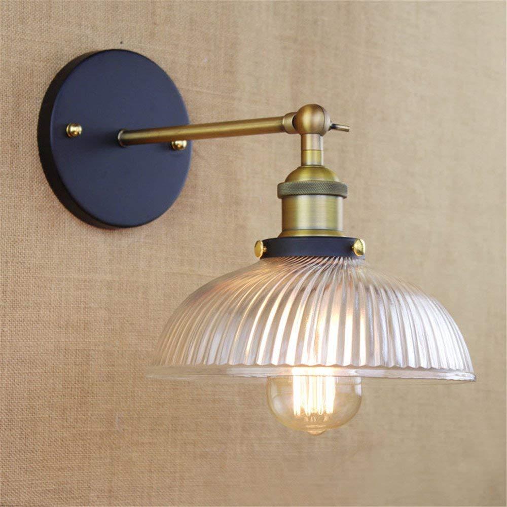 Irinay Wandlampe Industrielle Retro Stil Zimmer Restaurant Galerie Cafe Glas Wandleuchte Wandleuchte Retro Minimalistisch (Farbe   Colour-Größe)