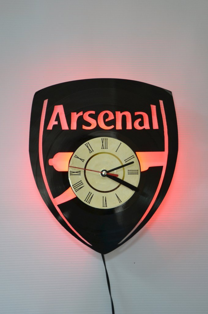 Arsenal FC Original Design Night Light, Wall Lights, Wall Lamp, ALF original design Wall Clock, Cool Rest Room Wall Art Decor (Red) DECOR FOR HOME