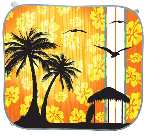 Hopkins SP240610J Go Gear Sunblock Jumbo Size Pop-Up Shade Island Sunset Print Hopkins Manufacturing