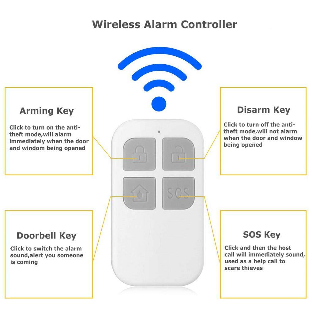 GuDoQi Alarma Puerta Inalámbrico 130dB Sensor Magnético Para ...