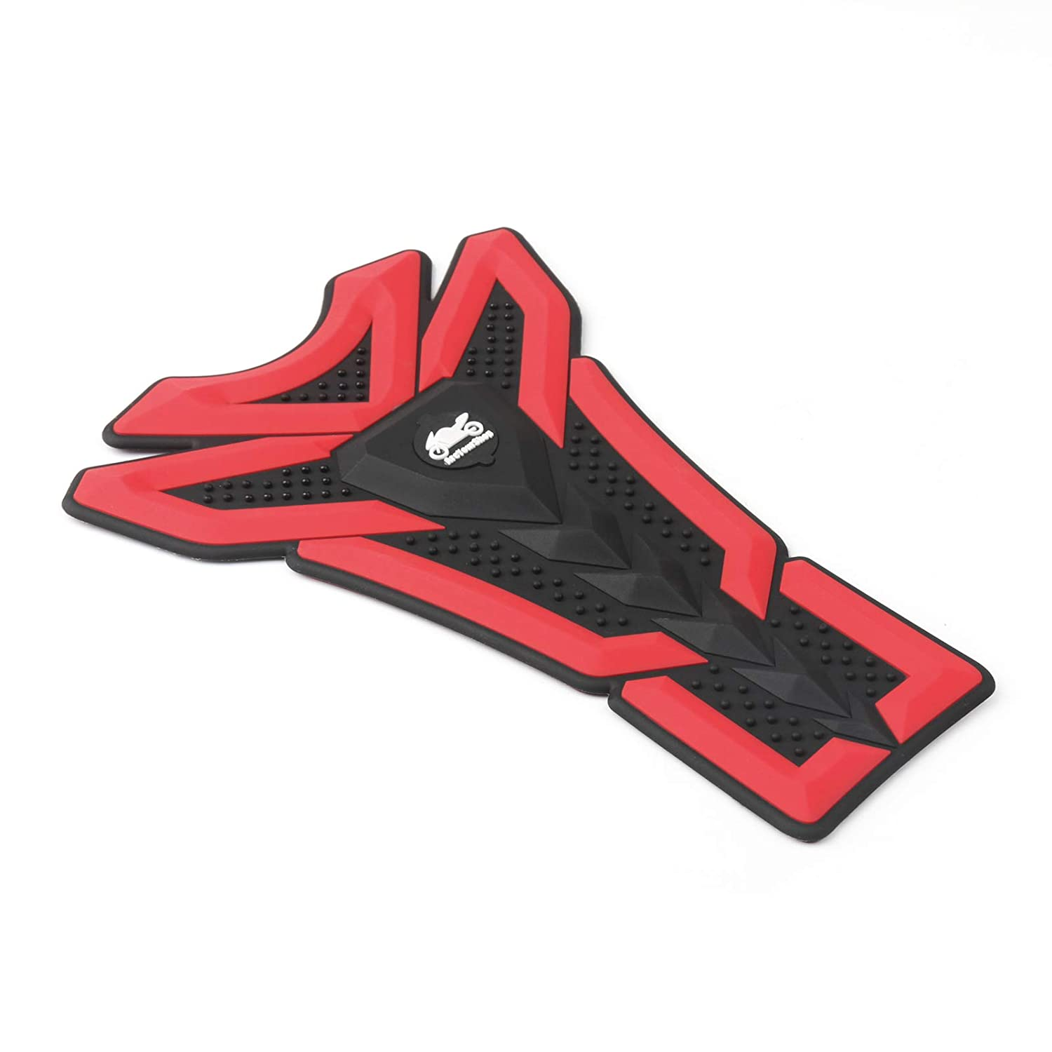Artudatech Motorcycle 3D Rubber Gas Tank Pad Fish Bone Decal Sticker Fit Honda Yamaha Red