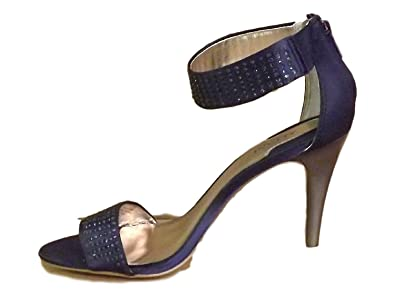 Alfani Womens Annika Open Toe Ankle Strap Dorsay Pumps Navy Size 5.5