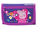 Peppa Pig Character Authentic Licensed Children Trifold Wallet (Purple)