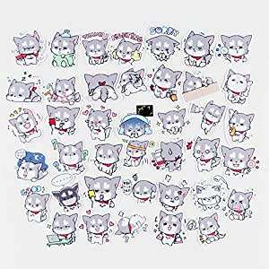 40pcs Cute Puppy Cartoon Sticker for Laptop Kids Toys Water Bottle Kindergarten Classroom Bottle Computer Notebook Car Skateboard Motorcycle Bicycle Luggage Guitar Bike (Schnauzer)