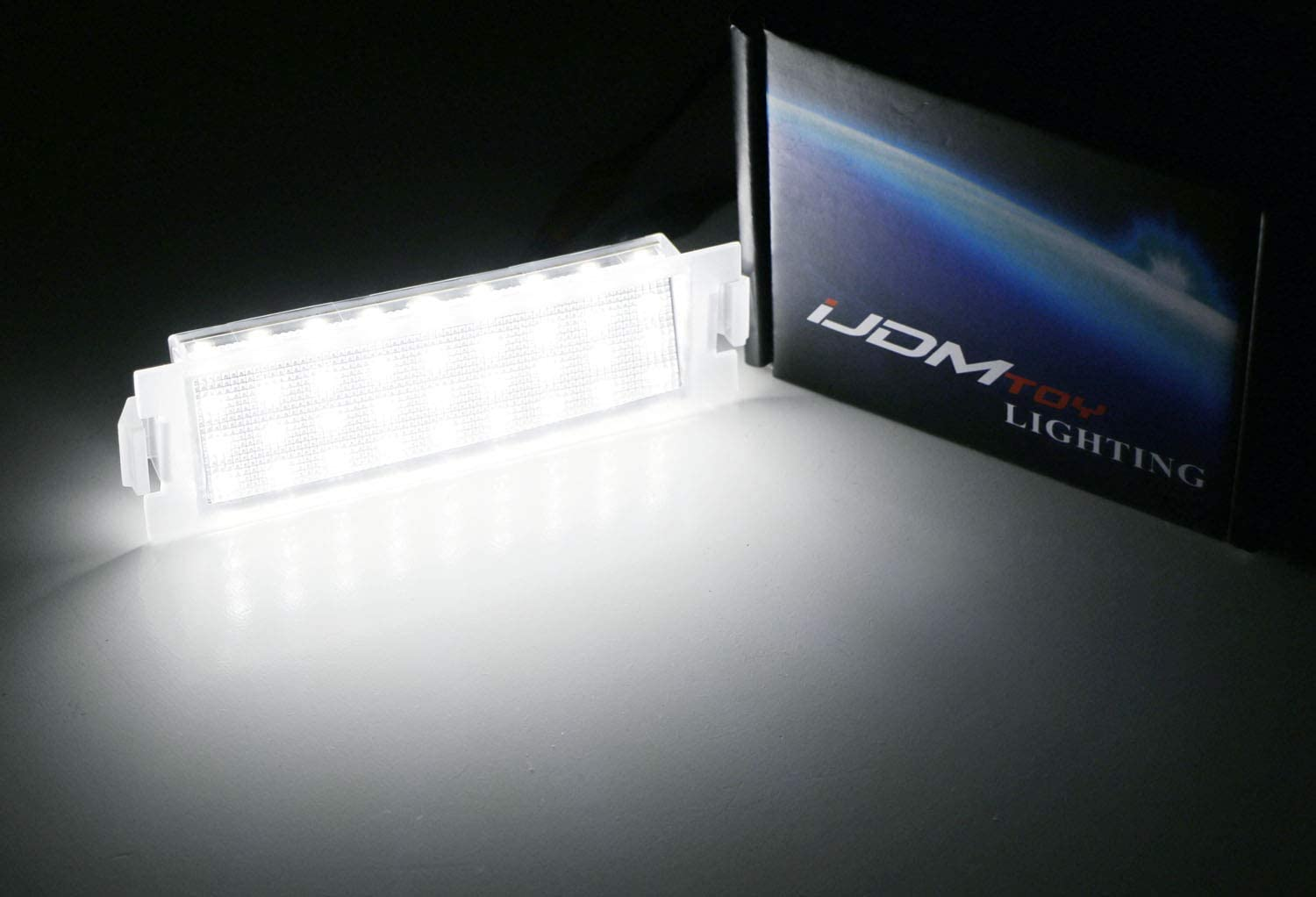 iJDMTOY OEM-Fit 3W Full LED License Plate Light Kit Compatible with Hyundai 2011-17 Veloster Kia 2009-19 Soul 2009-16 Genesis Coupe Powered by 18-SMD Xenon White LED Diodes