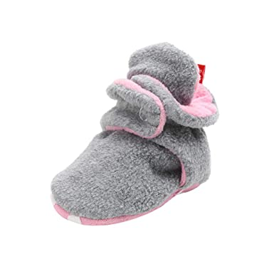 eb751e8c8f3f8 Toddler Baby Booties, Cute Cozy Fleece Warm Winter Prewalker Toddler Snow  Boots Crib Shoes Girls