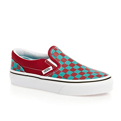 Vans Classic Slip-On Shoes - (Checkerboard) Chili Pepper Scuba Blue   Amazon.co.uk  Shoes   Bags 5cca13846