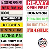 Tag-A-Room Color Coded Home Moving Box Labels, 500 Count Moving Stickers, Moving Supplies