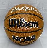 Kareem Abdul-Jabbar Autographed Silver Wilson NCAA Basketball- PSA/DNA Auth