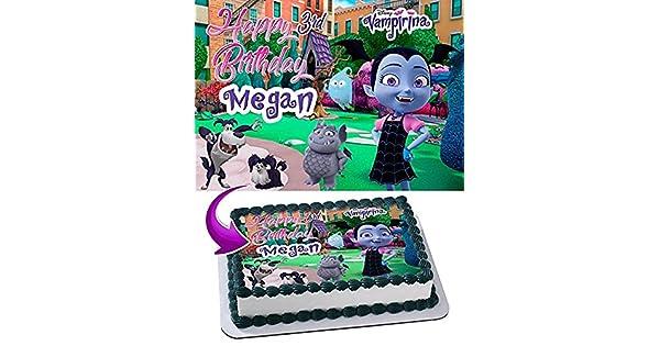 Vampirina - Decoración comestible para tartas (tamaño 1/2 ...