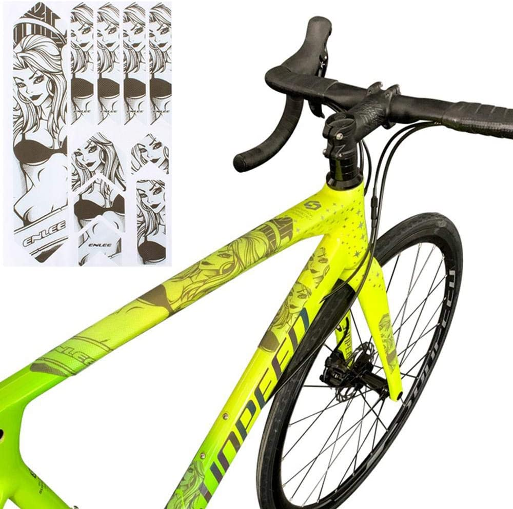 3D High Impact Frame Guard Protector Sticker Lesgos Fork Chain Guard Protects Your Bike from Scratches and Dings,Honeycomb 3D Sollid Structure PVC Material,for Road and Mountain Bicycle