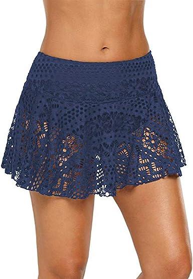 Faldas para Mujer de Playa Riou Falda de baño de Encaje de croché ...