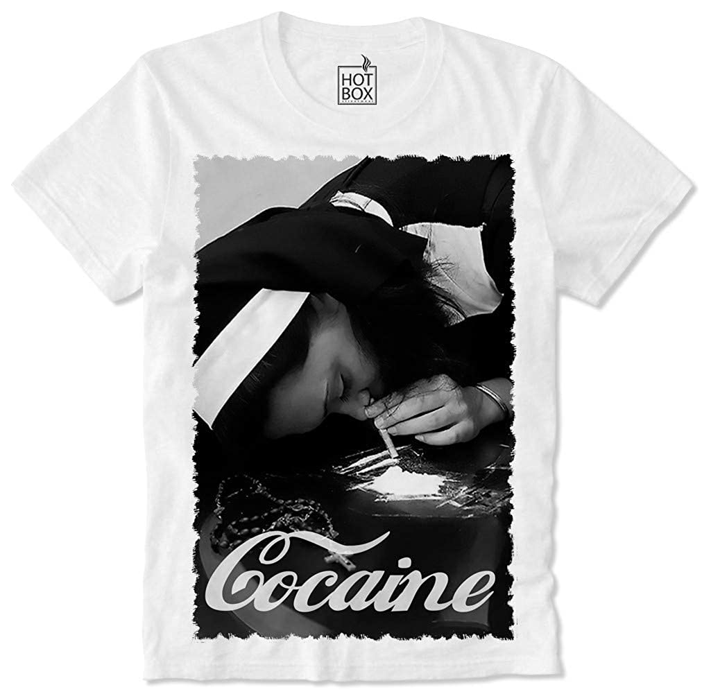 Hey Kids Cocaine Is Better T-Shirt Girl White Kokain Dope High Koks Drugs Smoke