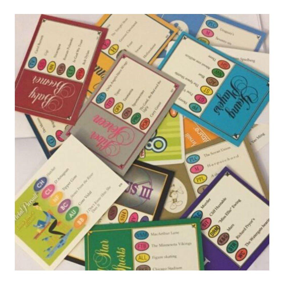 Genus Edition Trivial Pursuit 100 randomly selected cards