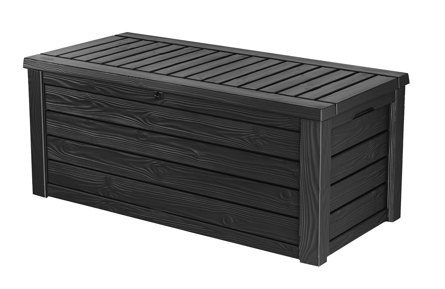 Keter Westwood 150 Gallon Resin Outdoor Storage Deck Box for Patio Garden Furniture, Grey by Keter