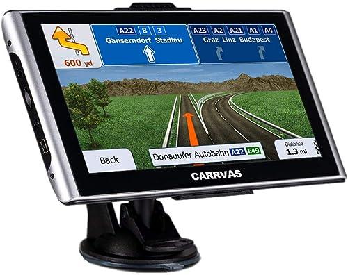 7inch CARRVAS GPS Navigation for Car, Truck Car RV Vehicle GPS Satellite Navigator System with Free Lifetime Maps