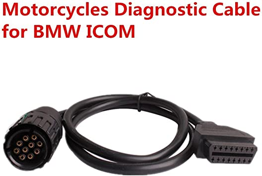 Keenso 10 Pin to 16 Pin OBD2 Connector Adapter Diagnostic Extension Cable for BMW ICOM-D Motorcycle Motorbike