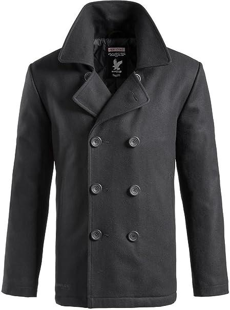 Surplus Herren PEA Coat, Schwarz, M