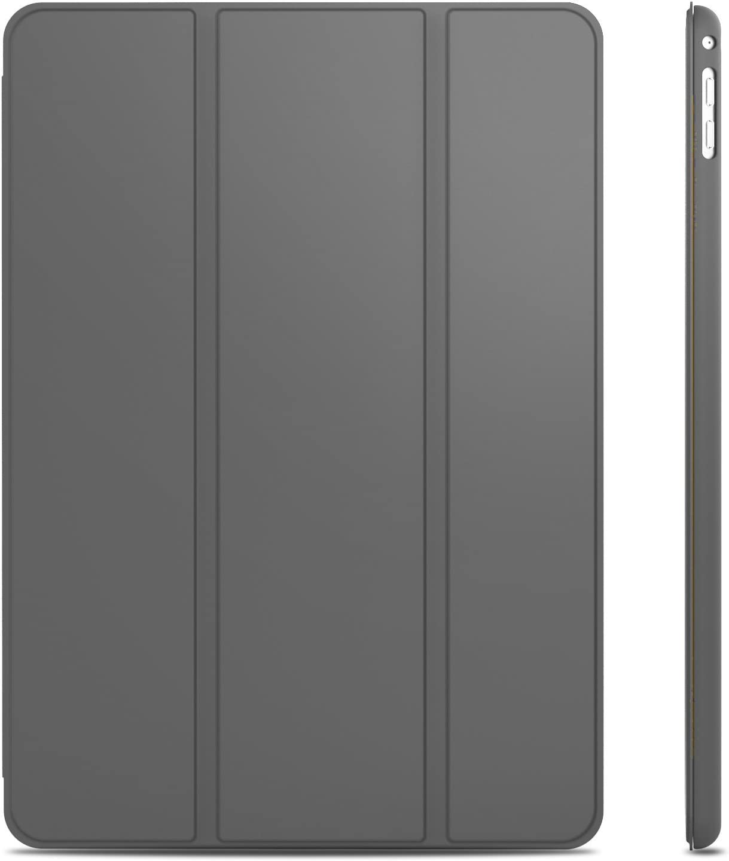 JETech 3043 - Funda para iPad Air 2, Carcasa con Soporte Función, Auto-Sueño / Estela, Gris Oscuro