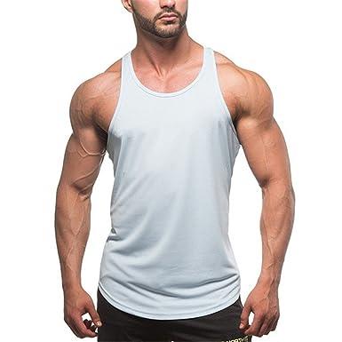 19adae86ec4e9 Débardeur Homme T-Shirt sans Manche Maillot de Corps Tank Top Musculation  Sport Fitness Gym