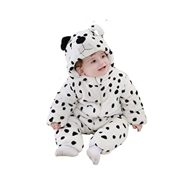 3d2a04b5b Lovelfly Baby Cute Boy & Girl Dot Dog Onesie Costumes/Sleepsuit (80cm(for