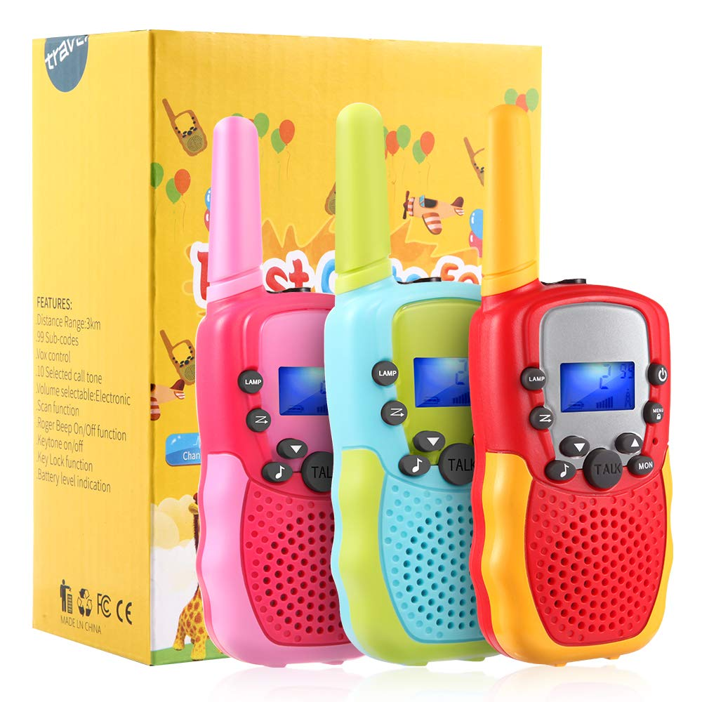 OMWay 3 Pack Kids Walkie Talkies, Toys for Girls 3-12 Year Old,Best Birthday Gifts for Kids.